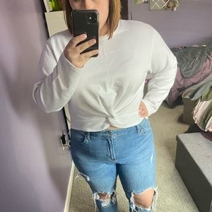 AMERICAN EAGLE TWIST FRONT SWEATER